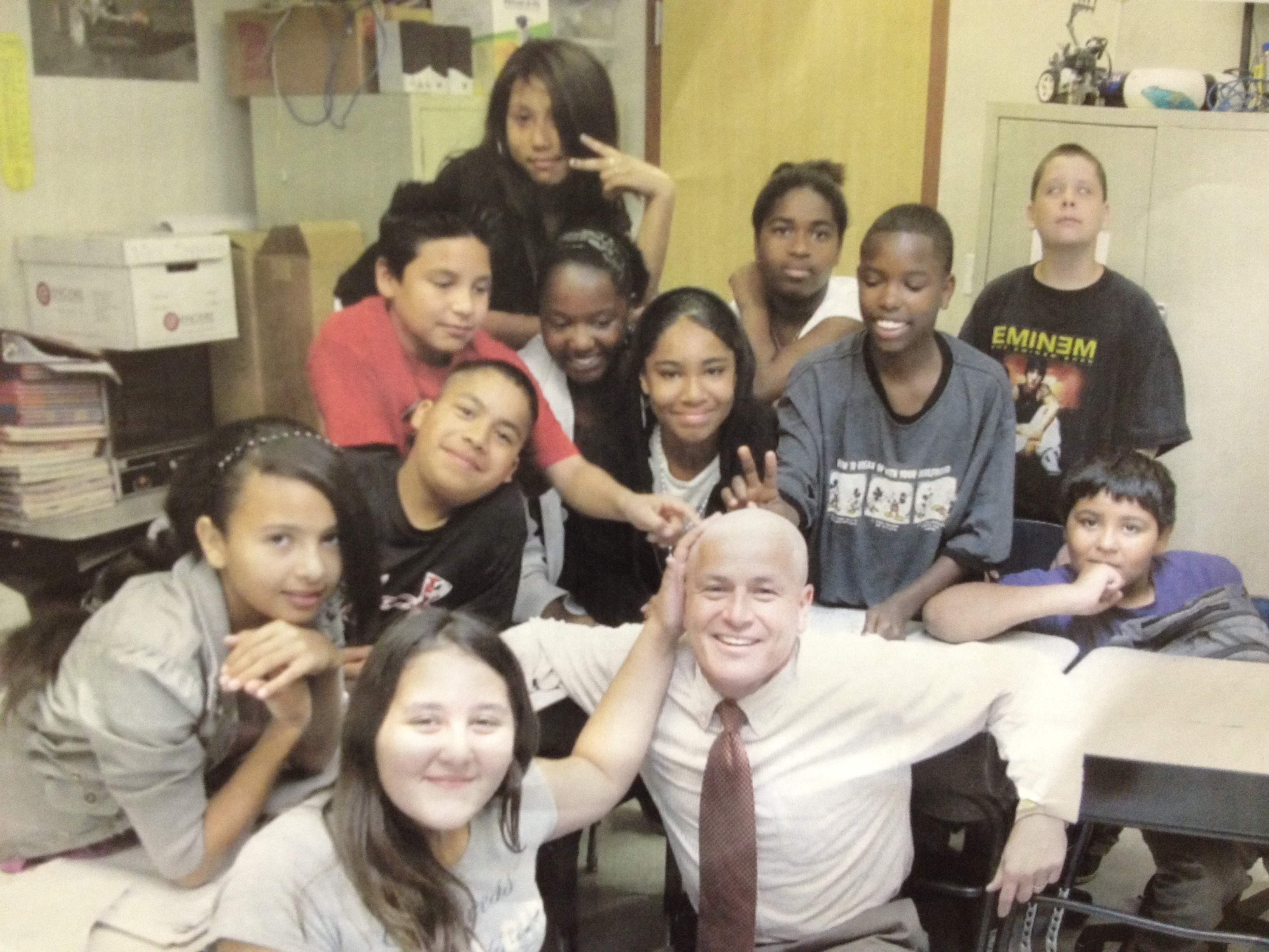 Senator Jerry Lewis with students of Children First Academy.