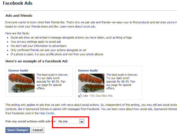 Facebook Remove Social Ads