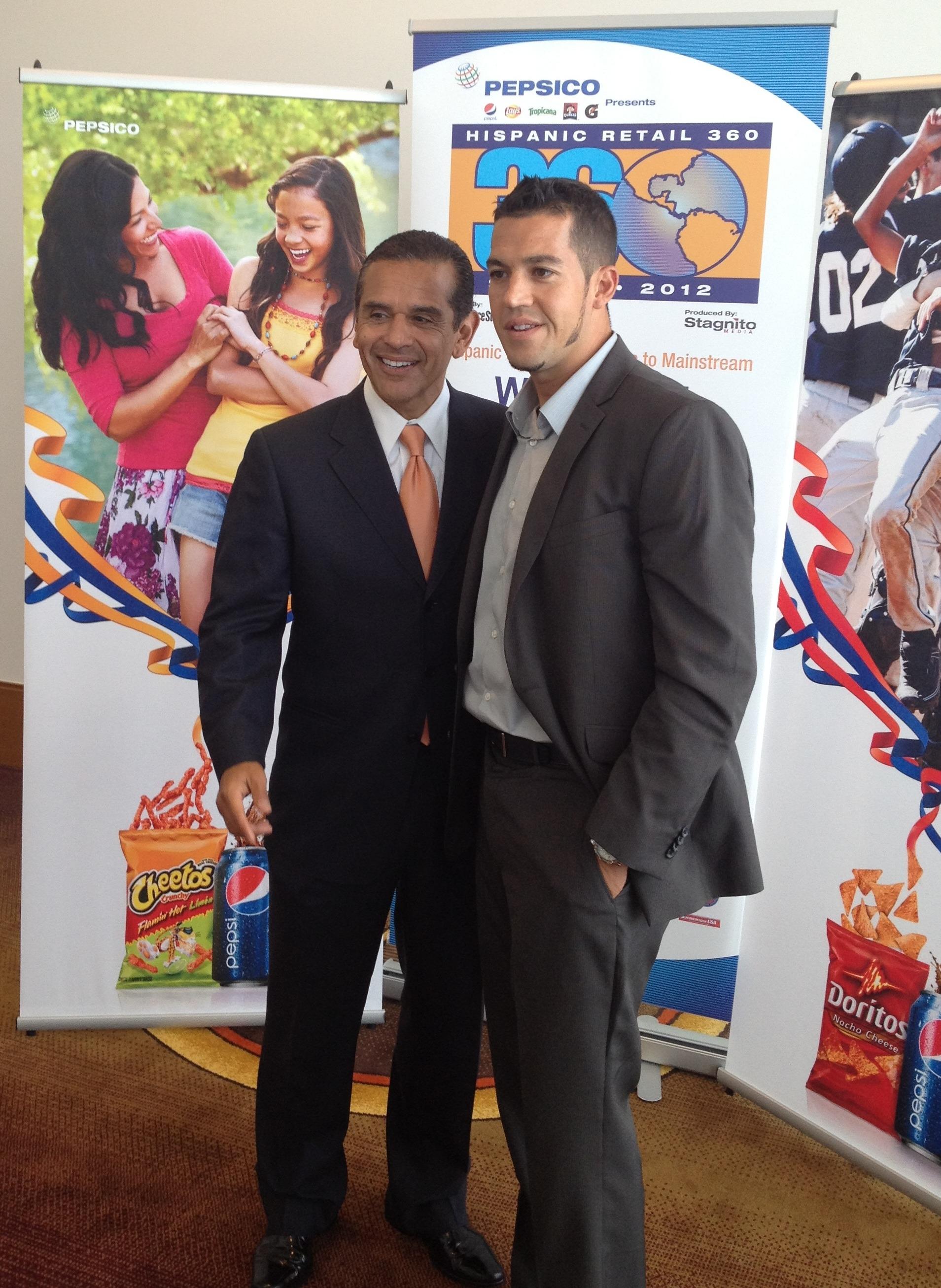 Mayor Villaraigosa and Eric Diaz