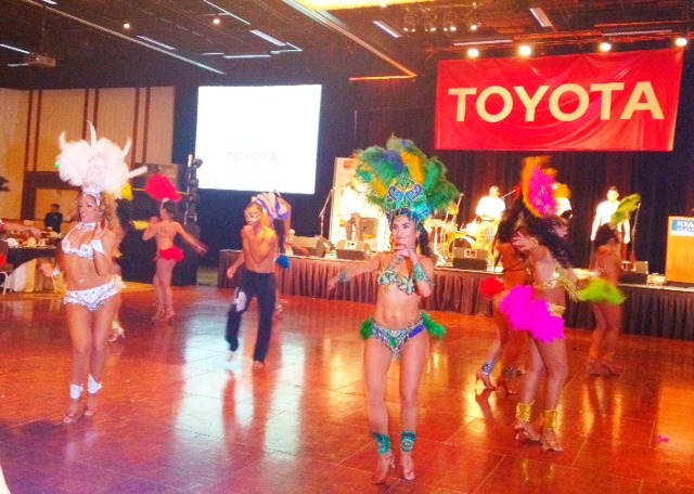 The opening of the awards ceremony hosted by Toyota
