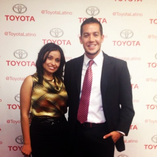 Social Media Spanish team at the Toyota red carpet opening for LATISM 2012