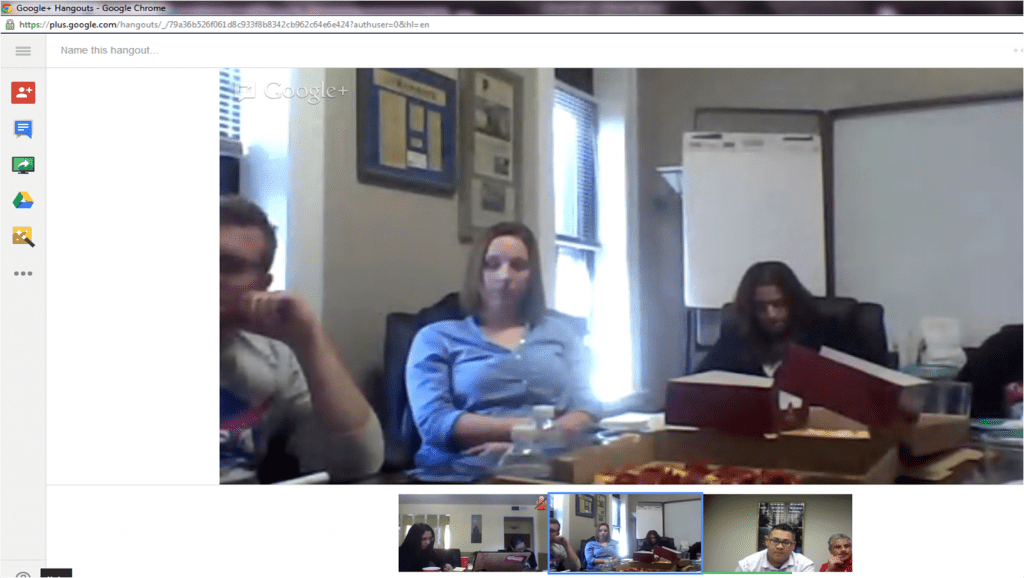 google hangout view - social media spanish team