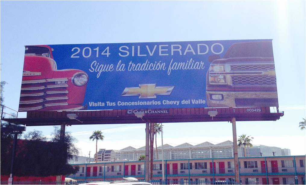 Chevy Silverado billboard found near downtown Phoenix
